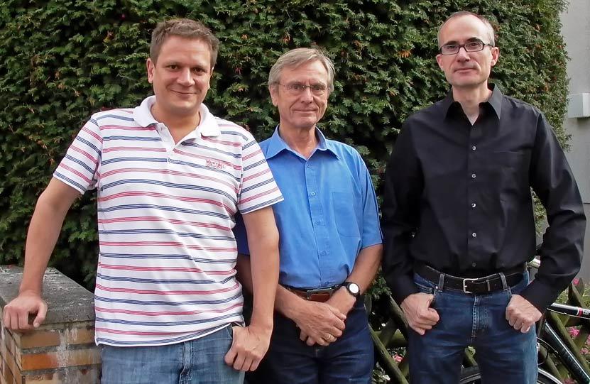 Der Vorstand: Oliver Mentzel, Eginhard Teichmann und Martin Landmann